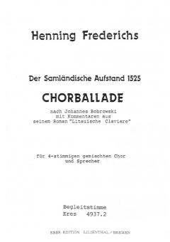 Der Samländische Aufstand (Instrumentalstimmen)