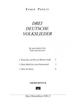 Drei deutsche Volkslieder (gemischter Chor)