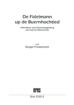 De Fidelmann up de Buernhochtied (Männerchor-Instr. Begl.)