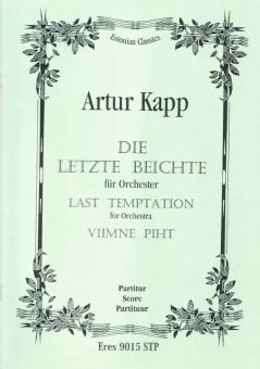Die letzte Beichte (Violine, Orchester)