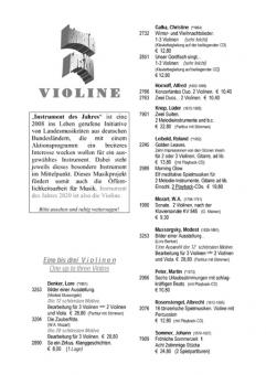 Eres Katalog Violine