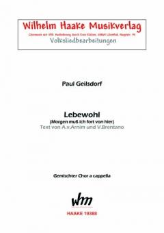 Lebewohl (gemischter Chor)