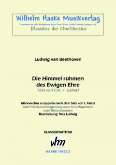 Die Himmel rühmen... (Männerchor-Klavierpart.)