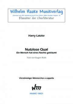 Nutzlose Qual (Männerchor)