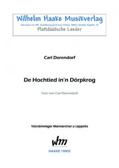 """De Hochtied in´n """"Dörpkrog"""" (Männerchor)"""