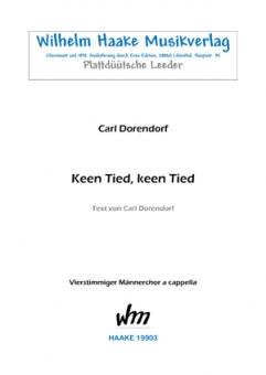 Keen Tied, keen Tied (Männerchor)