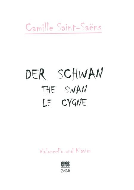 The Swan (violoncello and piano) 111