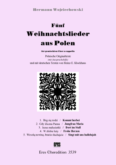 Polnische Weihnachtslieder Texte.Fünf Weihnachtslieder Aus Polen Gemischter Chor