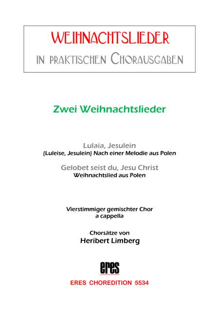 Polnische Weihnachtslieder Texte.Zwei Polnische Weihnachtslieder Gemischter Chor